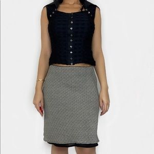 Old Navy Tan and Black Pattern Skirt Size 8